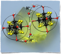 Metal Atom Clusters as Building Blocks for Multifunctional Proton-Conducting Materials : Theoretical and Experimental Characterization